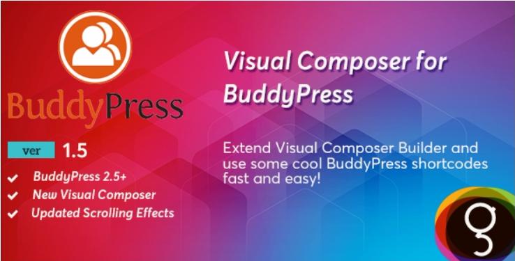 Buddypress for visual composer