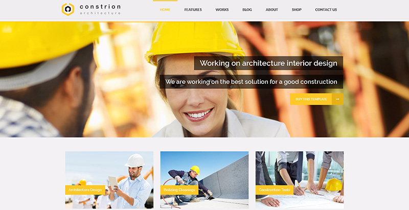 Constrion themes wordpress creer site internet entreprise construction