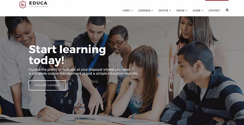Educa themes wordpress creer site web elearning education formation
