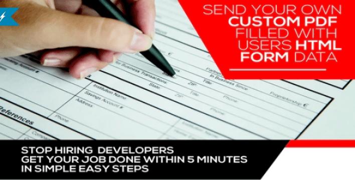 Form generating pdf wordpress plugin
