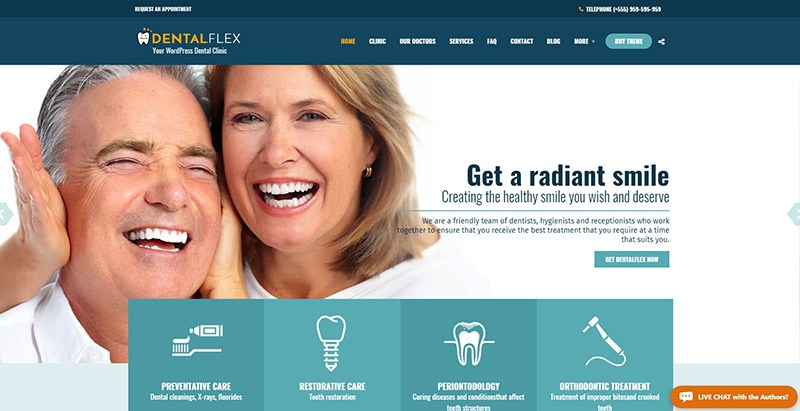 Healthflex themes wordpress creer site web medecin hopital centre sante clinique dispensaire