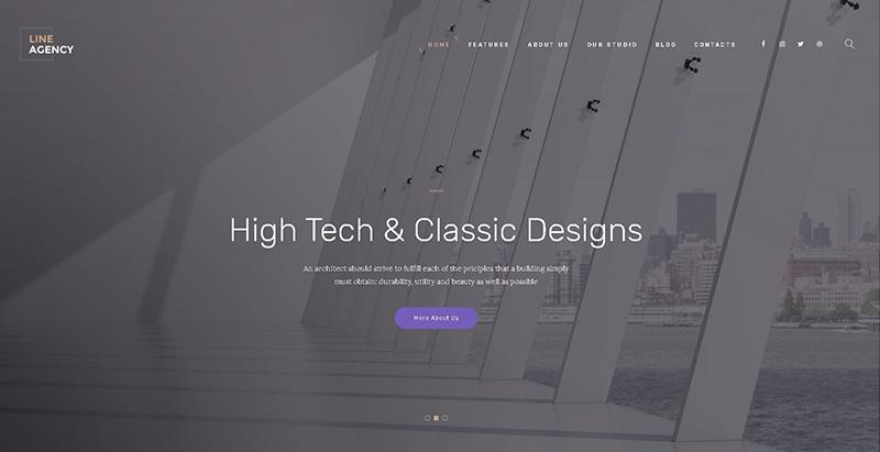 Line agency themes wordpress creer site internet entreprise construction