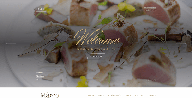 Marco themes wordpress creer site web restaurant café bar boulangerie 1