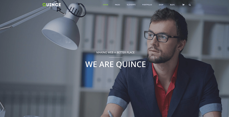Quince themes wordpress creer site web entreprise financiere finances audit conseils financiers