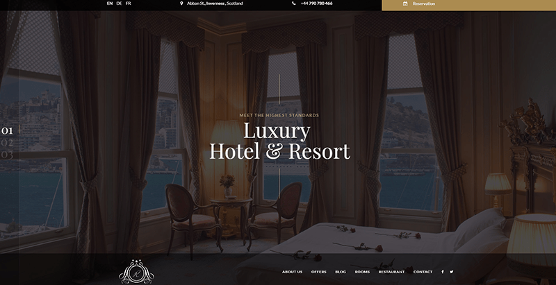 Reda Themes Wordpress Creer Site Web Hotel Motel Auberge Cite Balneaire