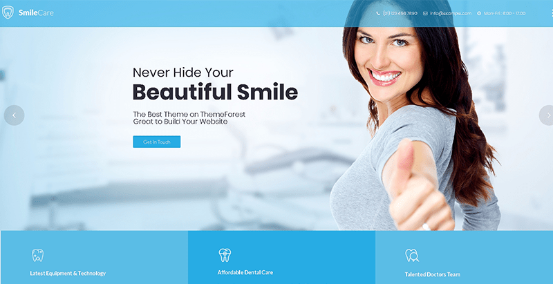 Smilecare themes wordpress creer site web clinique sante hopital centre santé