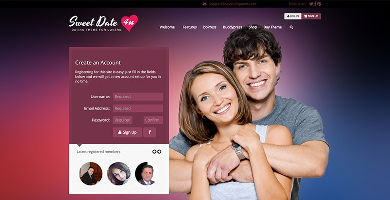 Sweet Date meilleurs themes wordpress creer site internet rencontres communautaire