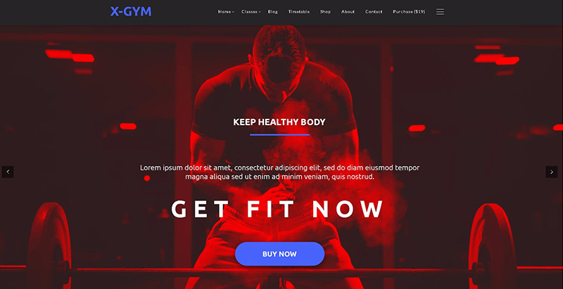 X gym themes wordpress creer site web clubs fitness yoga