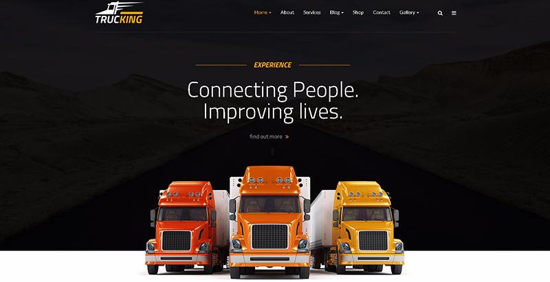 Trucking themes wordpress creer site web entreprise agence pme societe