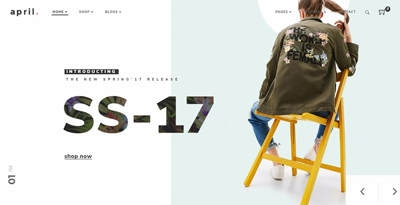 April themes wordpress creer boutique ligne vetements mode fashion