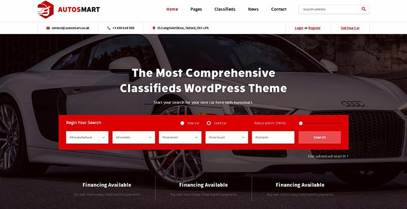 autosmartthemes wordpress creer site internet concessionnaire automobile garage mecanicien. Black Bedroom Furniture Sets. Home Design Ideas