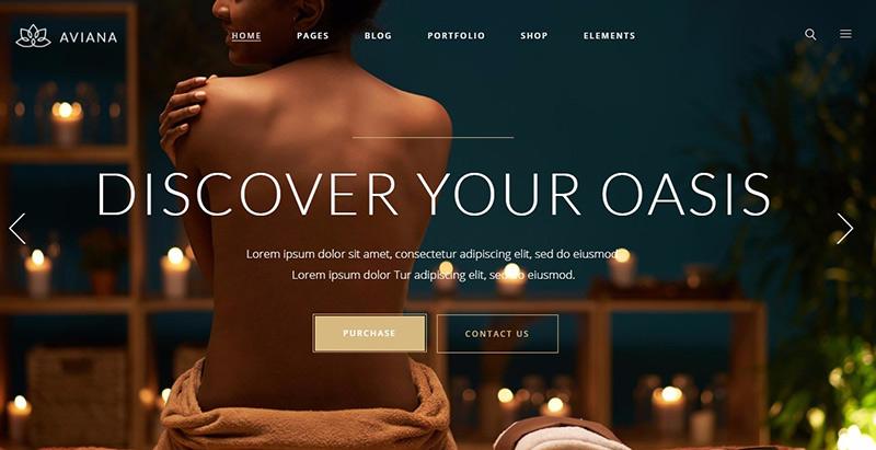 Aviana Themes Wordpress Erstellen Sie einfach eine Website Spa Salon Beaute