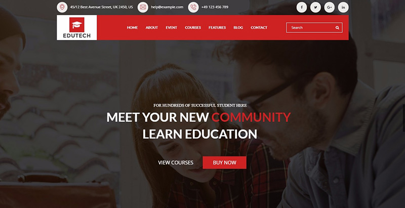 Edutech themes wordpress creer site internet educatif e learning
