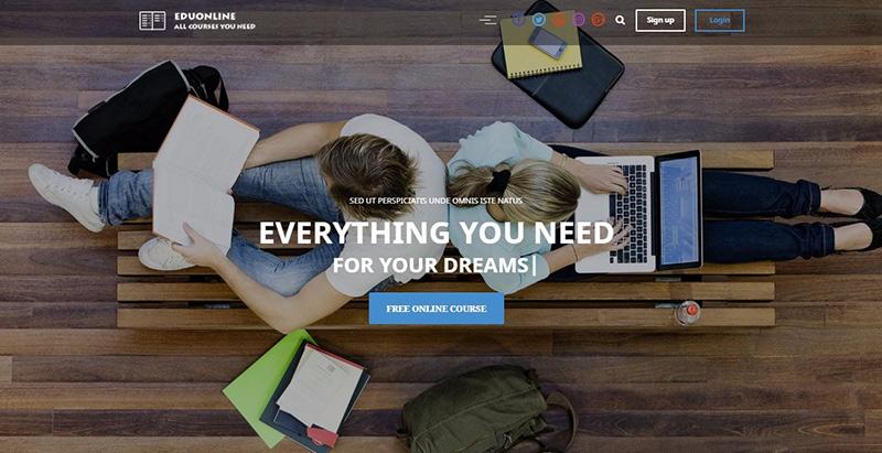 Eduonline themes wordpress creer site internet educatif e learning