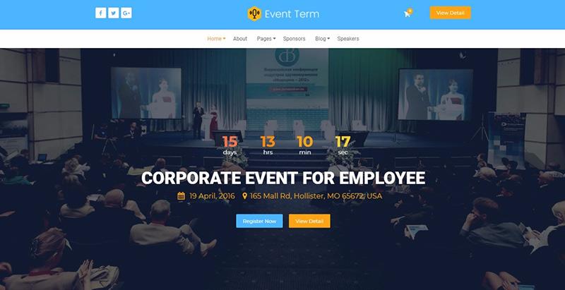 Temas de 10 WordPress para crear un sitio web de agencia de eventos ...
