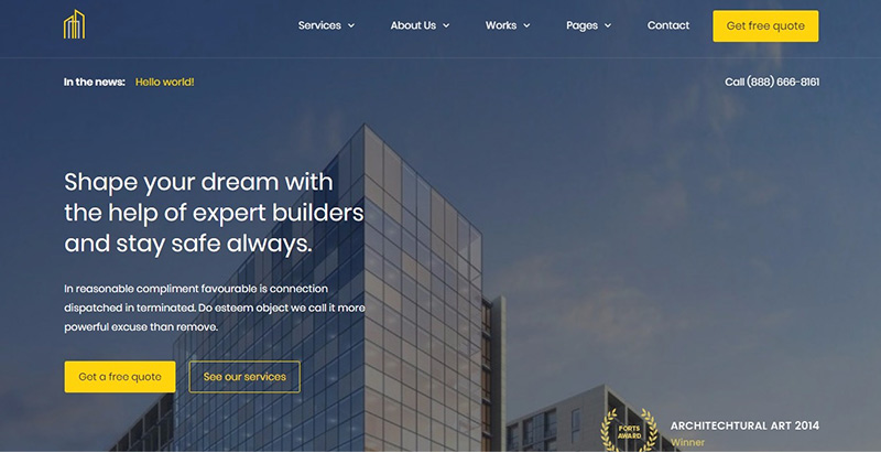 Grayhouse themes wordpress creer site internet entreprise construction