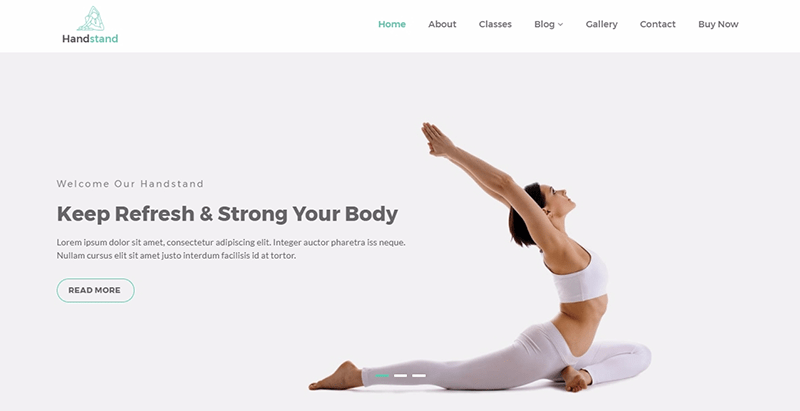 10 WordPress temas para crear una página web del club de fitness ...