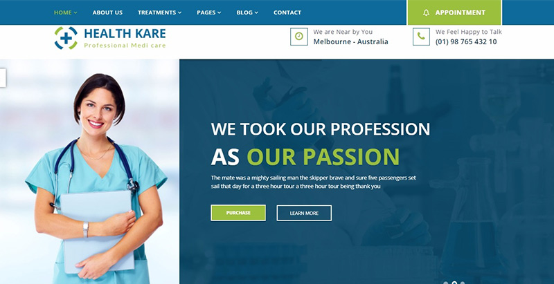 10 WordPress Themes para criar site para treinamento hospitalar ...