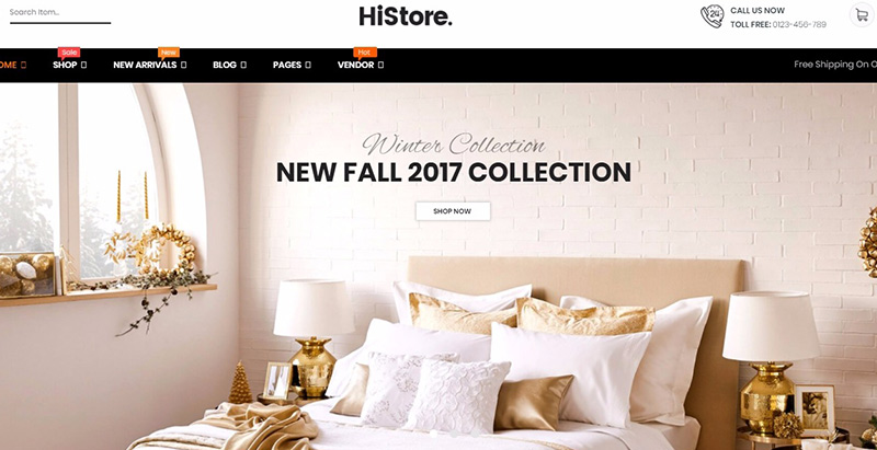 Histore themes wordpress creer site ecommerce boutique en ligne