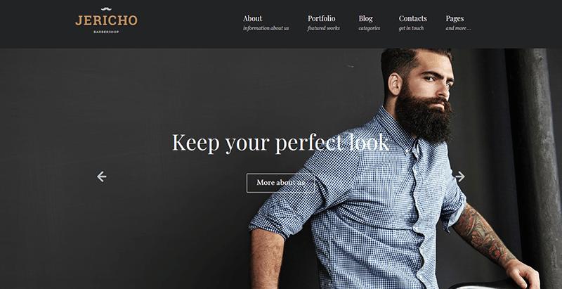 thèmes WordPress pour créer un site Web de salon de coiffure - Jericho