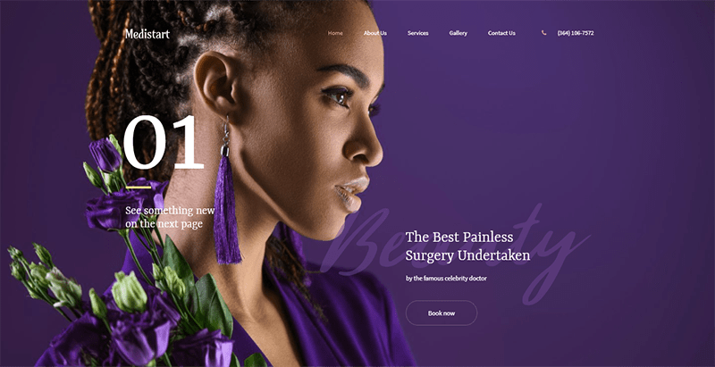Medistart theme wordpress creer site web salon coiffure spa
