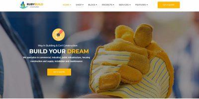 10 Thèmes WordPress Pour Créer Un Site Web D'entreprise De Construction