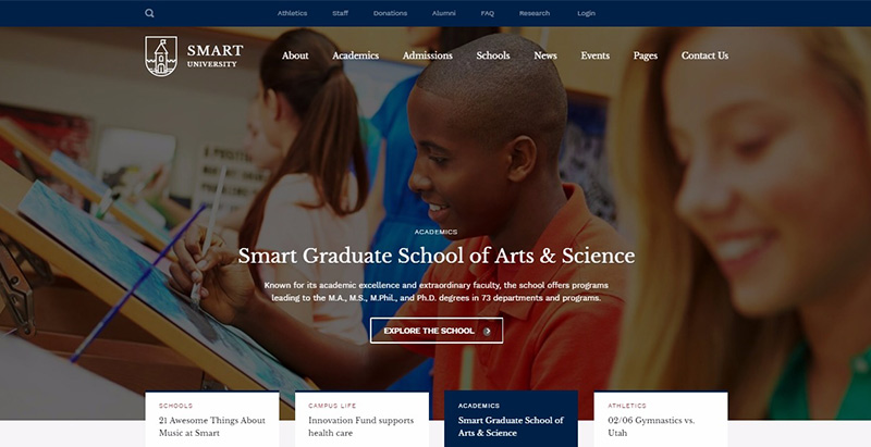 Smarty themes wordpress creer site internet educatif e learning