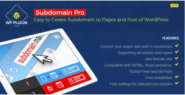 Subdomain pro plugin wordpress