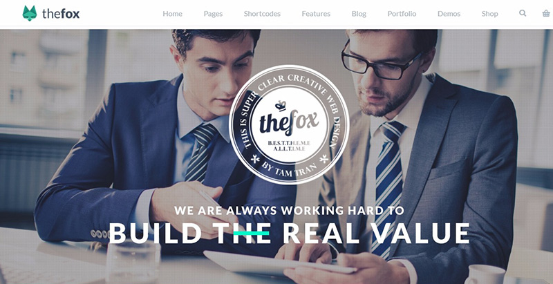 Thefox themes wordpress creer site internet entreprise startup agence pme