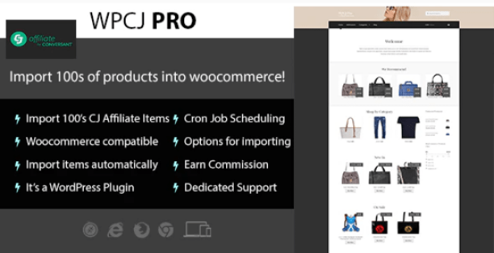 Wpcj pro woocommerce cj affiliate wordpress plugin