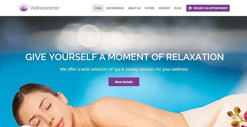 Temas de 10 WordPress para crear fácilmente un sitio web de spa ...
