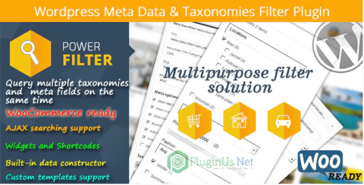 Wordpress meta data taxonomies filter plugin