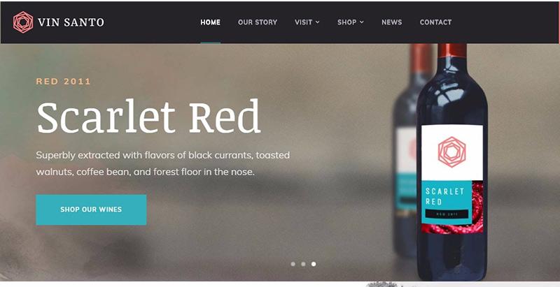 Vin santo themes wordpress creer facilement site internet restaurant