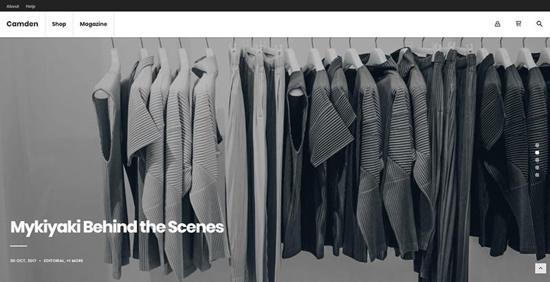 Camden themes wordpress creer site ecommerce boutique en ligne