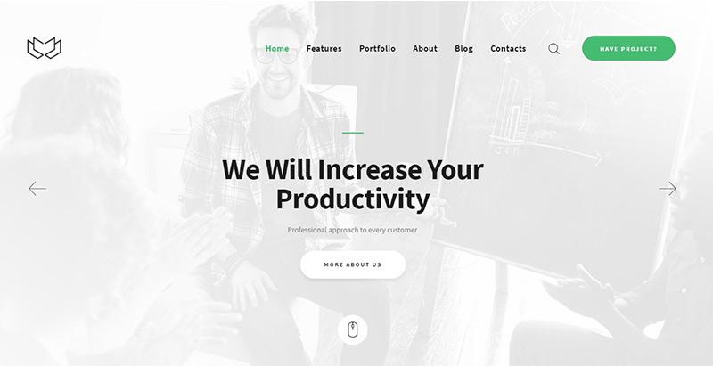 Deviox themes wordpress creer site web agence marketing entreprise
