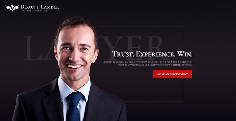 Dixon lamber themes wordpress creer site internet avocat justice procureur
