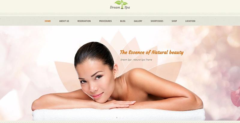 Traum Spa Themen WordPress erstellen Website Internet Spa Salon Massage