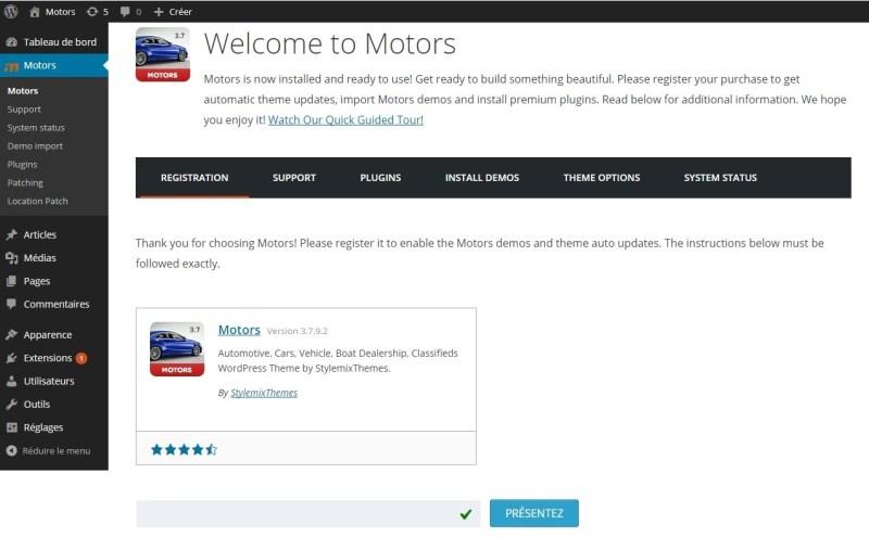 Motors enregistrement clé