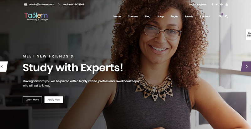 Taalem themes wordpress creer site internet educatif lms