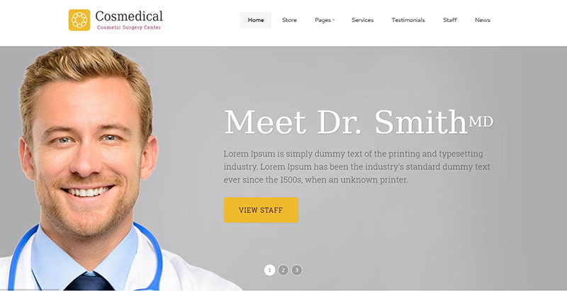 Temas de 10 WordPress para crear un sitio web de doctor | BlogPasCher