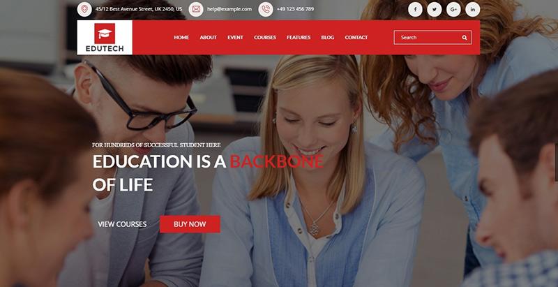 Edutech themes wordpress creer site internet elearning education formation