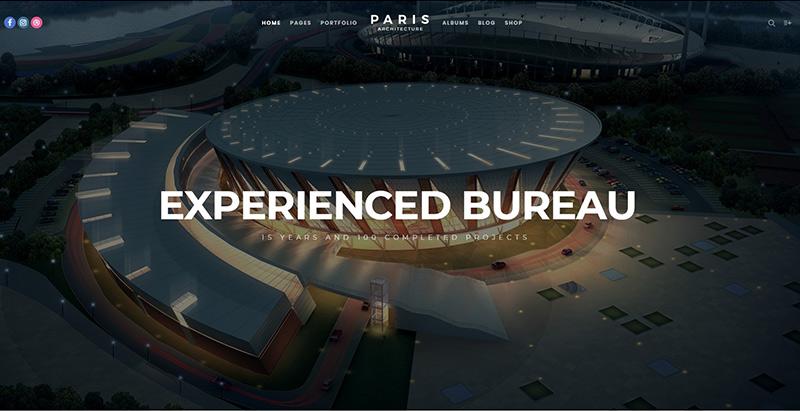 Fatmoon themes wordpress creer site web architecte cabinet architecture