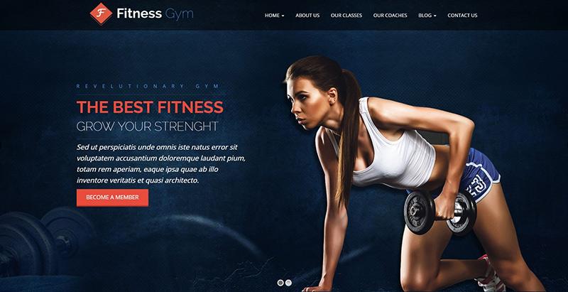 Fitness gym themes wordpress creer site web salle fitness
