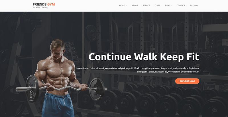 Friend gym themes wordpress creer site web salle fitness