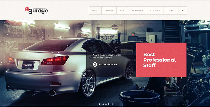 Garage themes wordpress creer site web garage automobile atelier mecanique