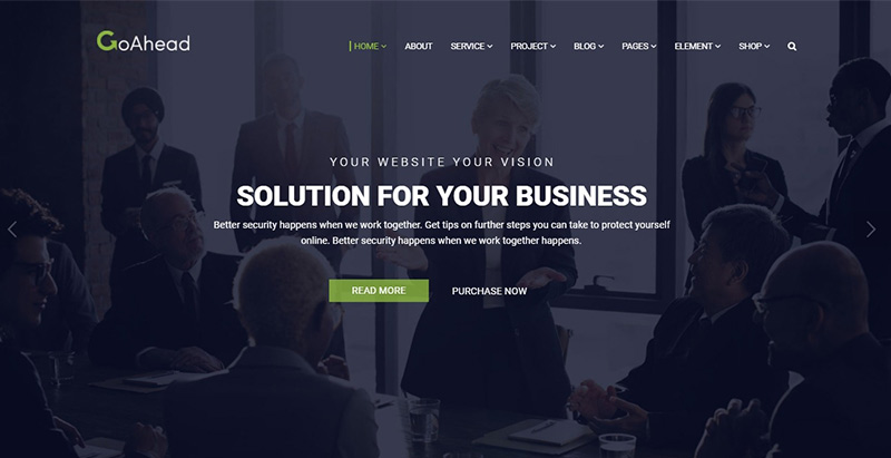 Goahead themes wordpress creer site web cabinet expertise comptable