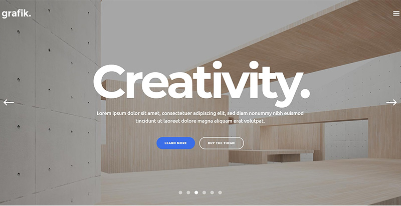 thèmes WordPress pour créer un site web d'architecte Grafik