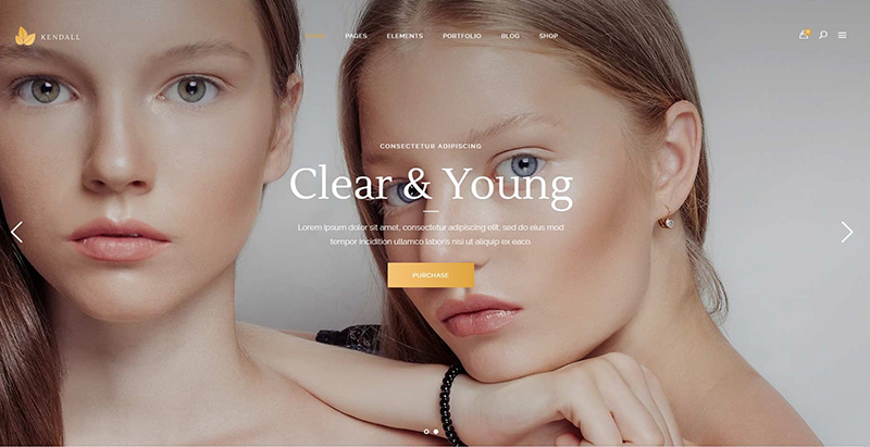 Kendall themes wordpress creer site internet spa beauté yoga