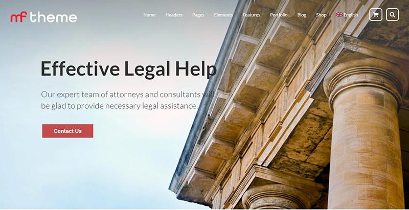 Mfthemes wordpress creer site internet avocat procureur juge