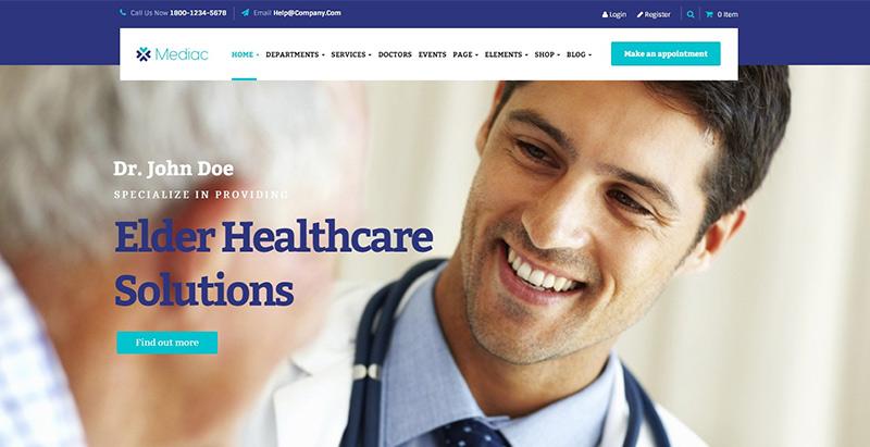 Mediac themes wordpress creer site web medecin docteur hopital